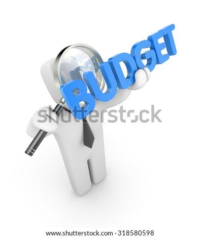 Budget metaphor - stock photo