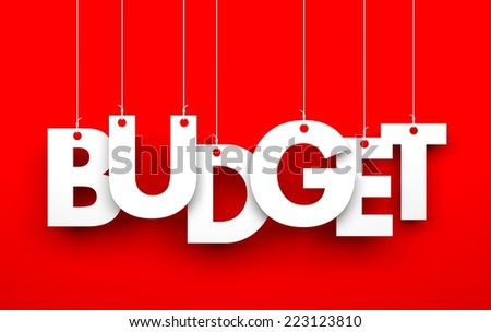 Budget. Word on strings - stock photo