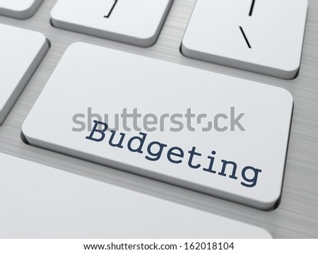 Budgeting - Business Concept. Button on Modern Computer Keyboard. - stock photo