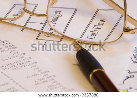 Budgeting tools - stock photo