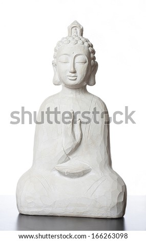 budha sculpture, for meditation and religious concepts - stock photo