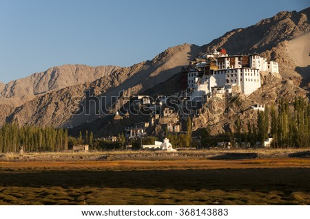 Budhist temple Spituk,  better known as Spituk Gompa or Pethup Gompa, India