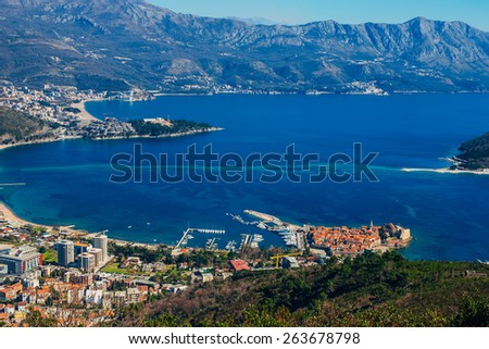 Budva from the sky