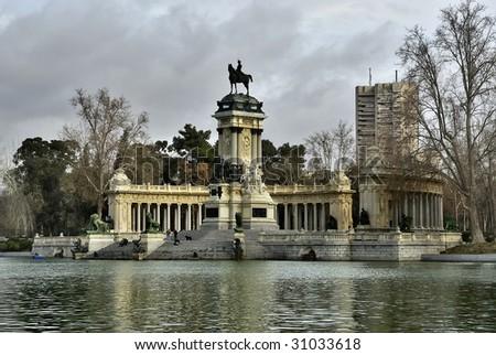 Buen Retiro garde, Madrid Spain - stock photo