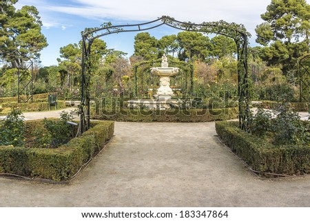 Buen Retiro Park - Park of Pleasant Retreat - is one of largest parks of city of Madrid, Spain. The park belonged to Spanish Monarchy until late 19th century, when it became a public park.