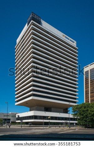 BUENOS AIRES, ARGENTINA - DEC 25, 2015: IBM building located in Catalinas north central area of Buenos Aires. IBM is an American multinational technology and cumulating corporation.