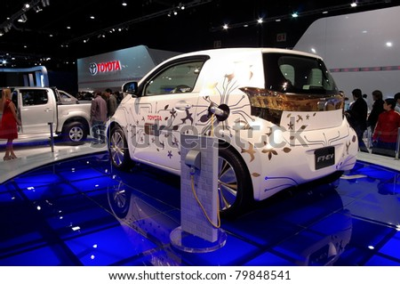 BUENOS AIRES, ARGENTINA - JUNE 21: Toyota Electric concept in the Salon del Automovil. Every two years the public can meet the new production and concept cars. June 21, 2011 in Buenos Aires, ARGENTINA