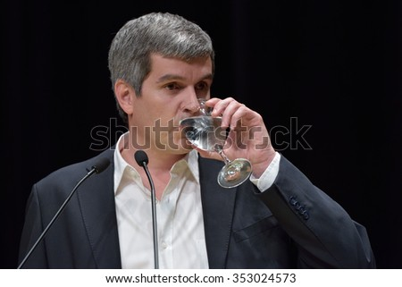 Buenos Aires, Argentina - Nov 25, 2015: Marcos Pena, who will be Chief of the Cabinet of Ministers of Argentina, during a press conference announcing future ministers.