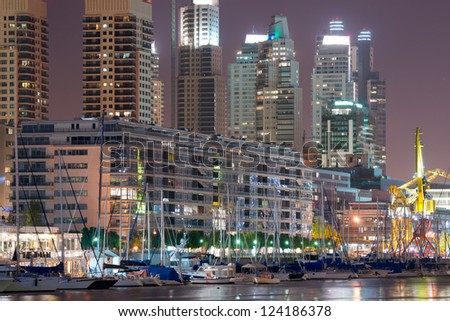 Buenos Aires Cityscape, Capital City of Argentina, Puerto Madero Neighborhood - stock photo