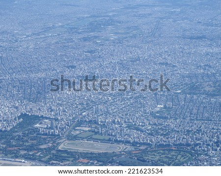 Buenos Aires, one of the largest megacities in the world, with pollution problems - stock photo