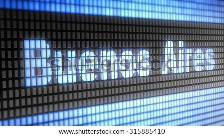 Buenos Aires sign - stock photo
