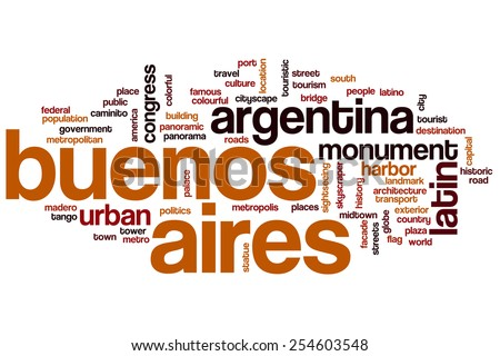 Buenos Aires word cloud concept - stock photo