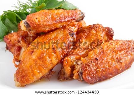 Buffalo chicken wings - stock photo