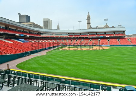 BUFFALO,NY - JUNE 26:Coca-Cola Field (formerly Dunn Tire Park, North AmeriCare Park, Downtown Ballpark and Pilot Field)on june 26,2013.It is a 18,050-seat baseball park and home of the Buffalo Bisons.