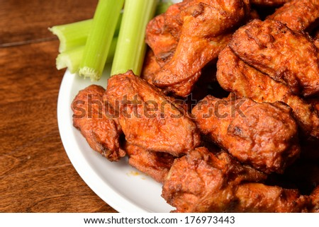 Buffalo Wings with Celery Sticks