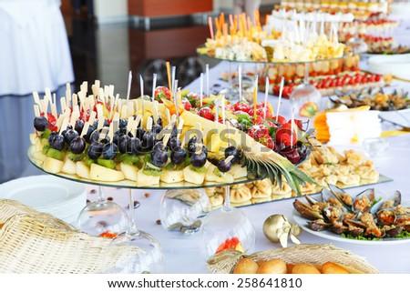 buffet breakfast  - stock photo