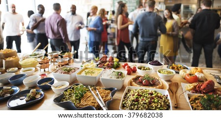 Buffet Dinner Dining Food Celebration Party Concept - stock photo