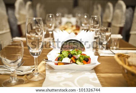 buffet served in the restaurant - stock photo