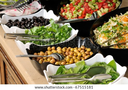 Buffet style food - a series of RESTAURANT images. - stock photo