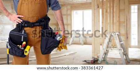 Builder handyman in new house.