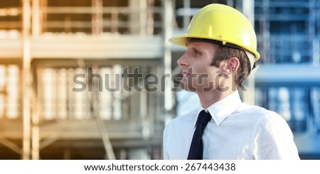 Builder manager - stock photo