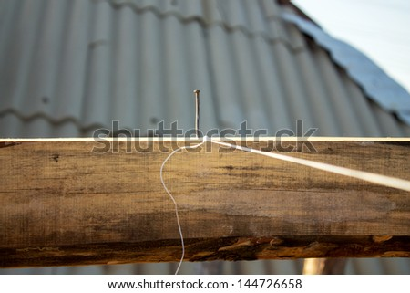 builders roof closes - stock photo