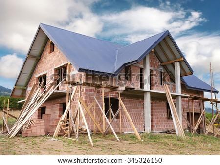 Pleasant House Construction Stock Images Royalty Free Images Vectors Largest Home Design Picture Inspirations Pitcheantrous