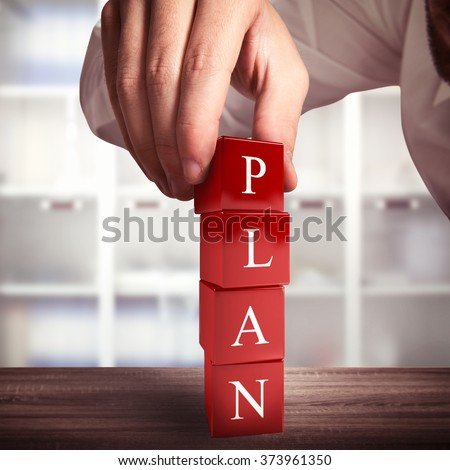 Building a plan - stock photo