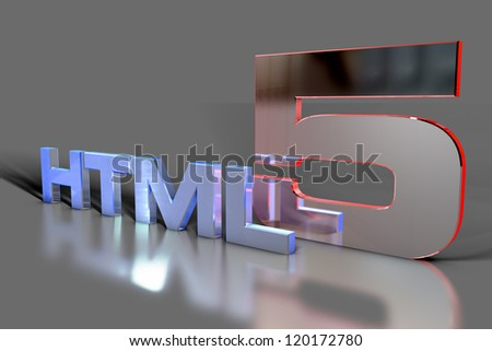 Building a website - HTML5 - stock photo