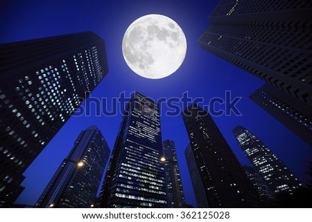 Building and Moon