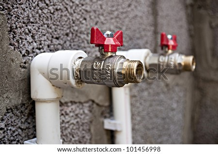 Building and plumbing. - stock photo