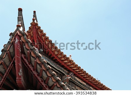 Building Architecture of Forbidden City in Beijing, China  - stock photo