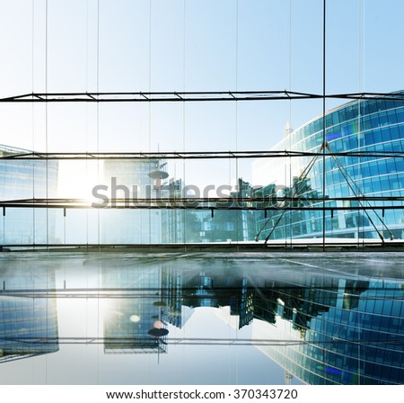 Building Architecture Office Window Contemporary Concept - stock photo