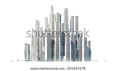 Building area - stock photo