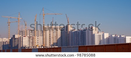 Building area of new houses - stock photo