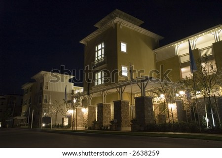 Building at Night - stock photo