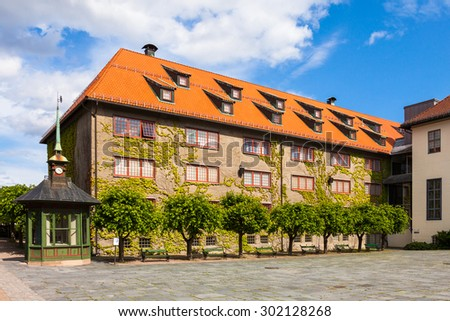 Building at the folk museum in Oslo, Norway. - stock photo
