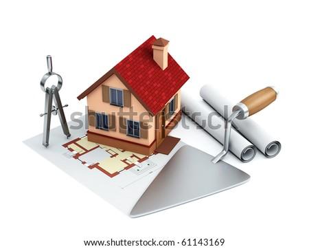 building background - stock photo