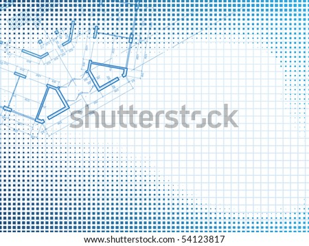 Building background. Plan of the house - stock photo