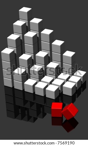 building blocks - 3d render - stock photo