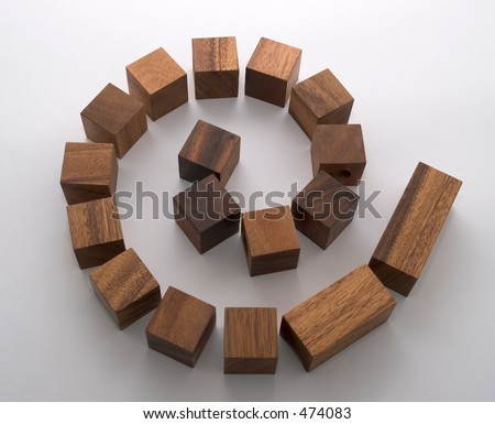 Building blocks in a spiral shape - stock photo