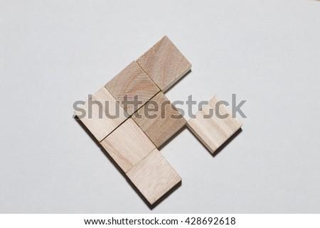 Building blocks of fish - stock photo