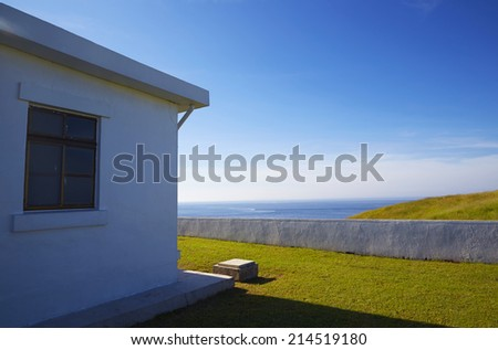 building&blue sky - stock photo