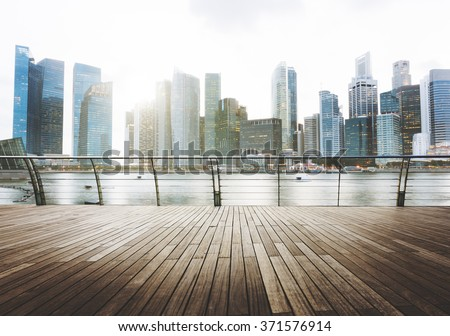 Building Business District City Architecture Office Concept - stock photo