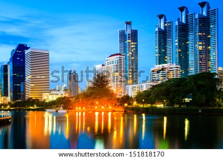 Building city, Thailand as cityscape as background