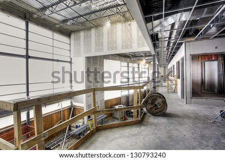 building construction site - stock photo