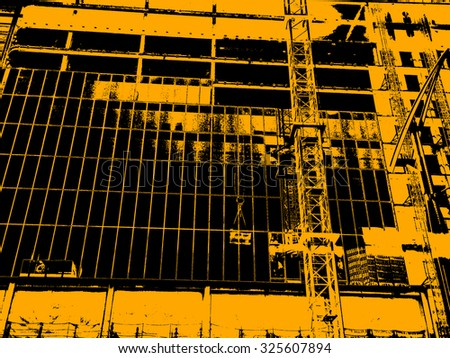 Building Construction Site Illustration - stock photo