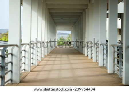 Building corridor - stock photo
