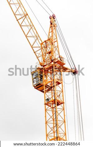 Building crane construction. - stock photo