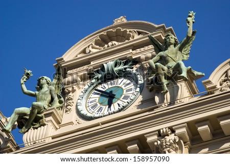 Building detail of Monte Carlo casino - stock photo